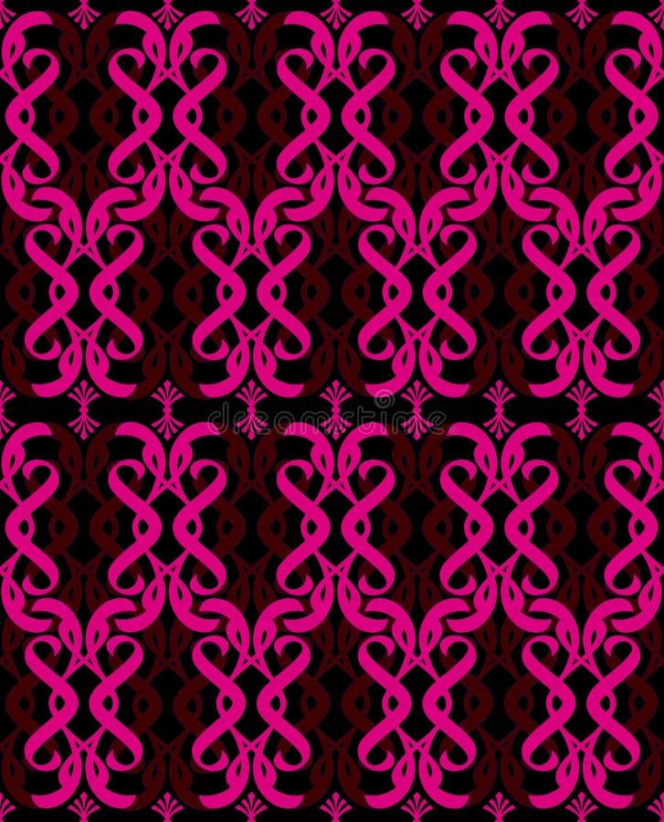 Heißes reizvolles rosafarbenes Schwarzes stock abbildung