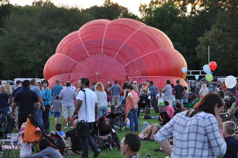 Heißluft-Ballon-Festival 2015 Löschzugs Plainville (CT) die stockbilder