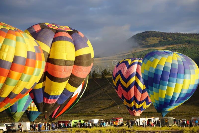 Heißluft Ballone stockfoto