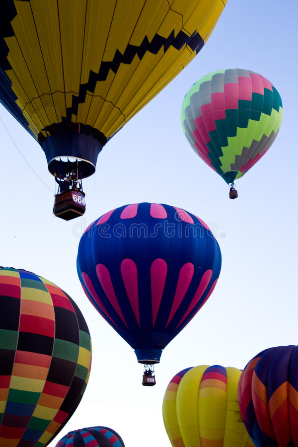 Heißluft-Ballone an Dawn At The Albuquerque Balloon-Fiesta stockbilder