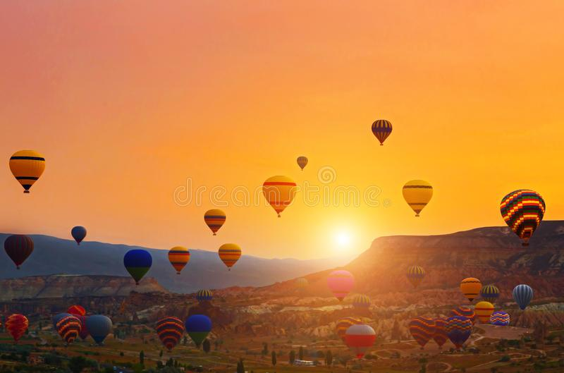Heißluft-Ballonfahrt Süd-Cappadocia-Ausflug Goreme-Freilicht-Museum lizenzfreie stockbilder