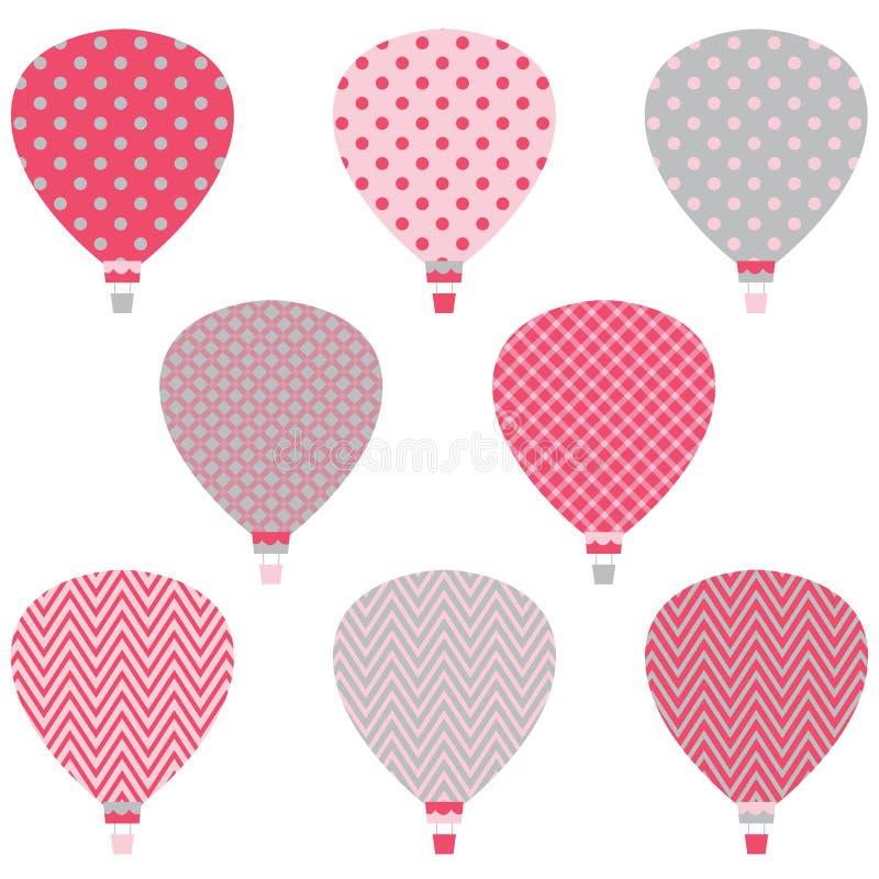 Heißluft steigt Muster im Ballon auf vektor abbildung