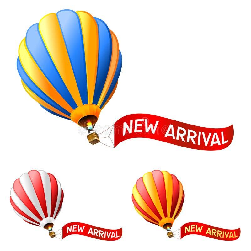 Heißluftballon stock abbildung
