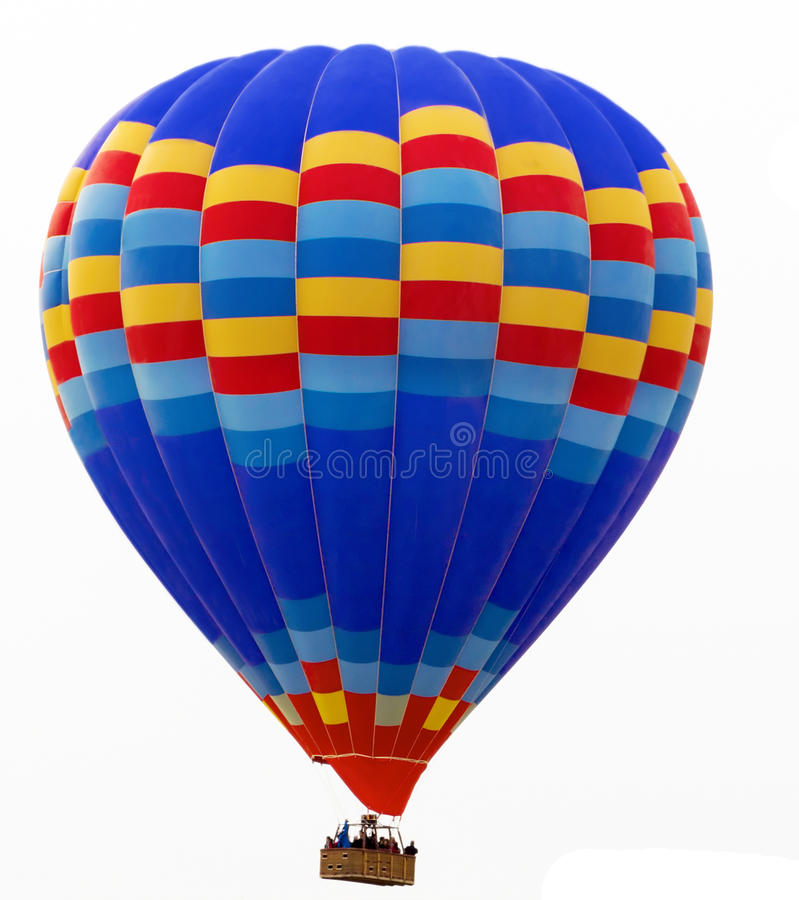Heißluftballon lokalisiert auf Weiß stockbilder