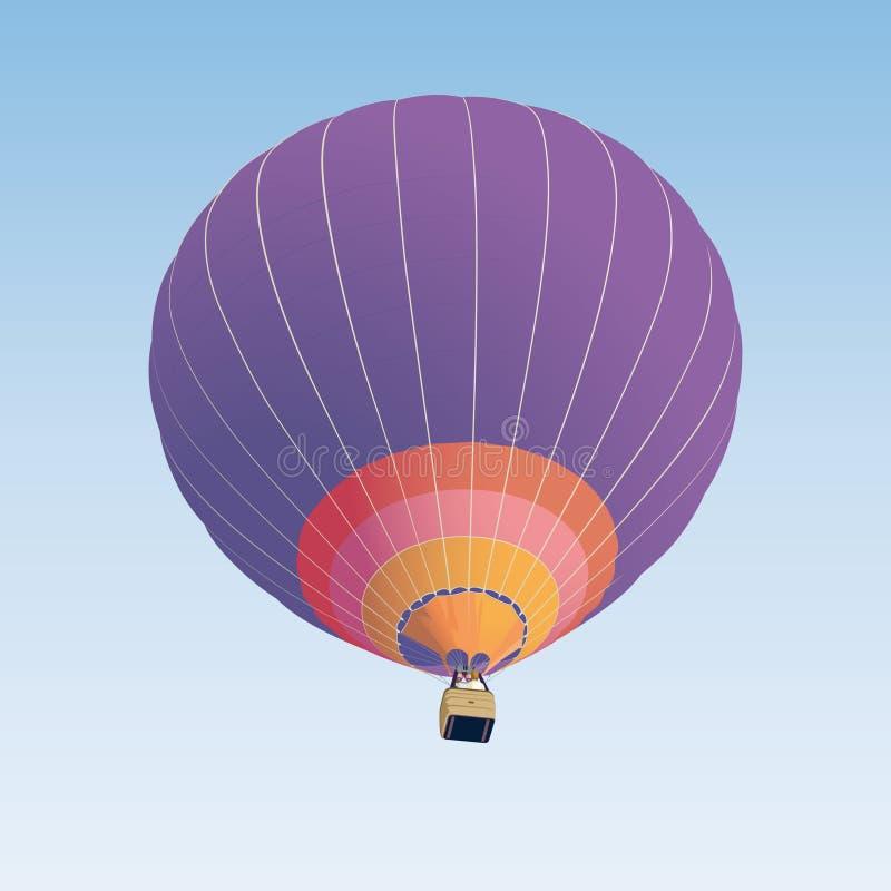 Heißluftballonabbildung stock abbildung