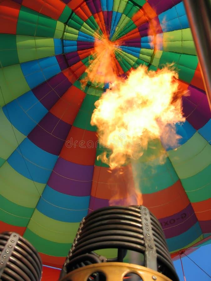 Heißluftballonbrenner stockfoto