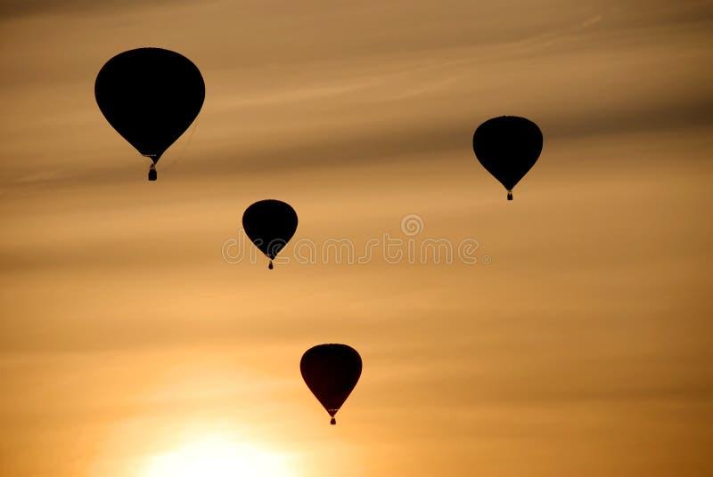 Heißluftballone lizenzfreie stockfotos