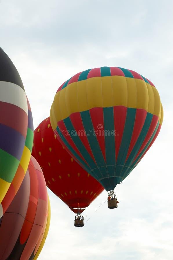 Heißluftballone stockfoto