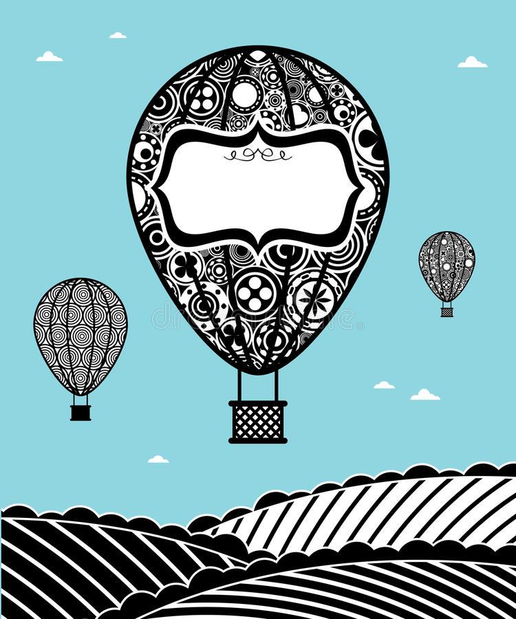 Heißluftballone lizenzfreie abbildung