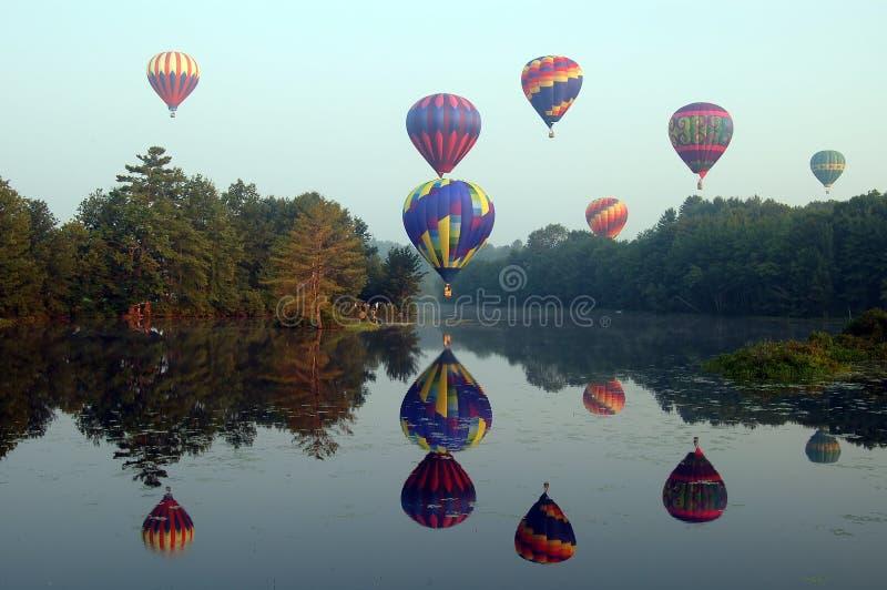 Heißluftballone lizenzfreies stockfoto