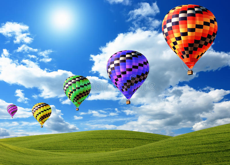 Heißluftballone lizenzfreies stockbild