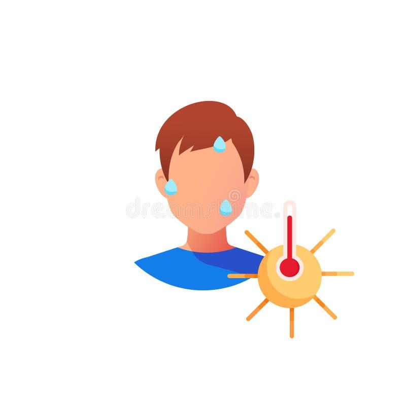 Hei? die Sonne sunstroke lizenzfreie abbildung