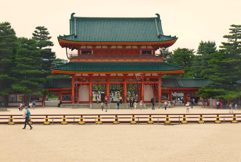 Heian寺庙,京都,日本 免版税库存图片