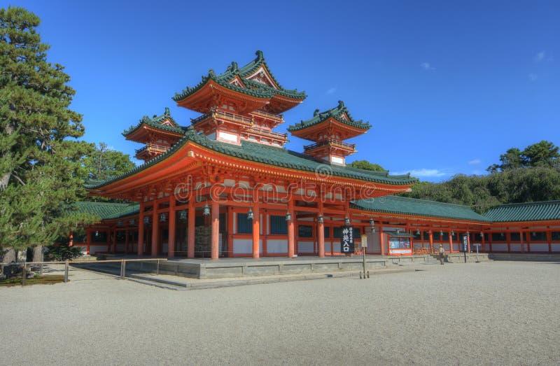 heian寺庙 免版税库存照片