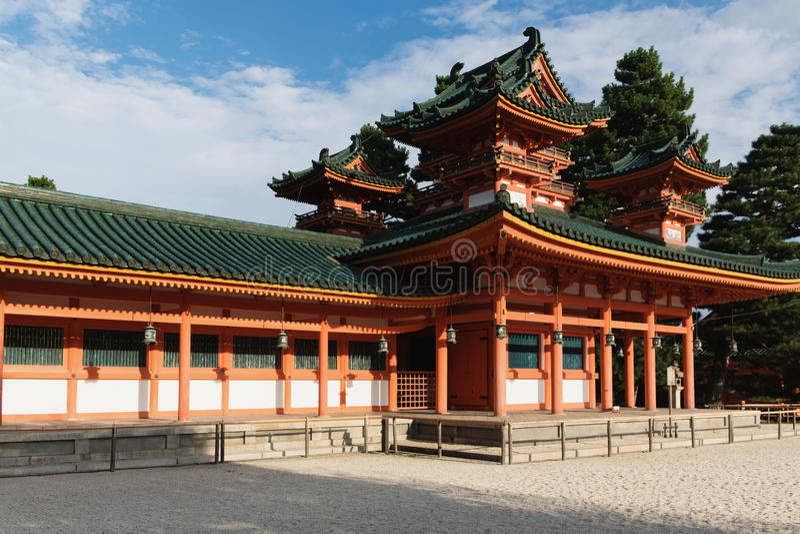 heian寺庙 免版税库存图片