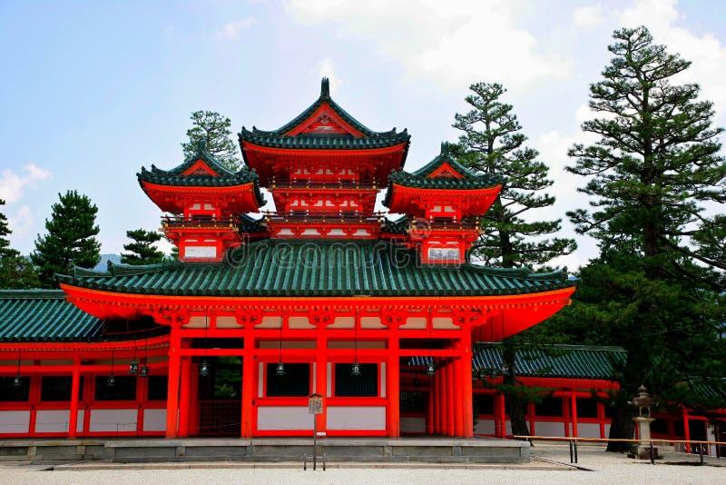 heian日本s寺庙 免版税库存照片