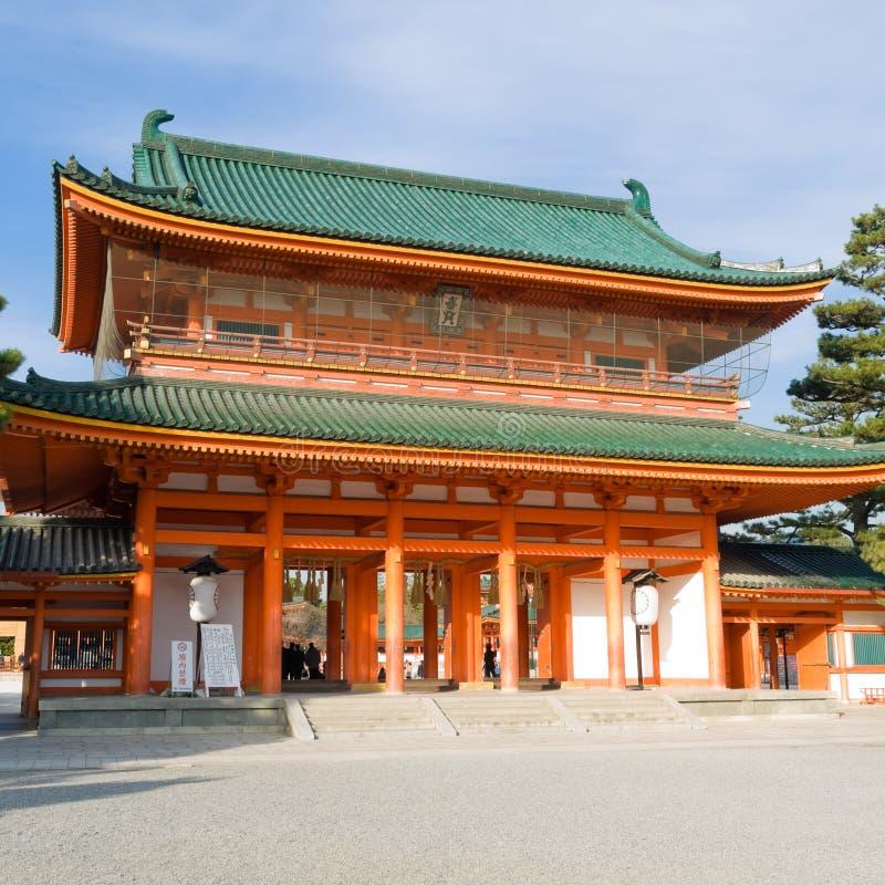 heian jingu寺庙 库存图片