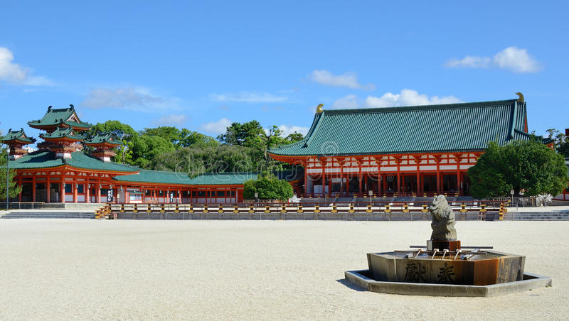 Download Heian Shrine stock image. Image of shrines, place, asian - 20715799
