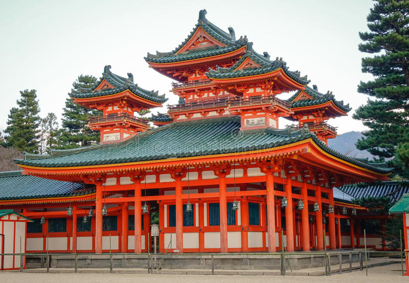 Heian Shrine in Kyoto, Japan stock photos