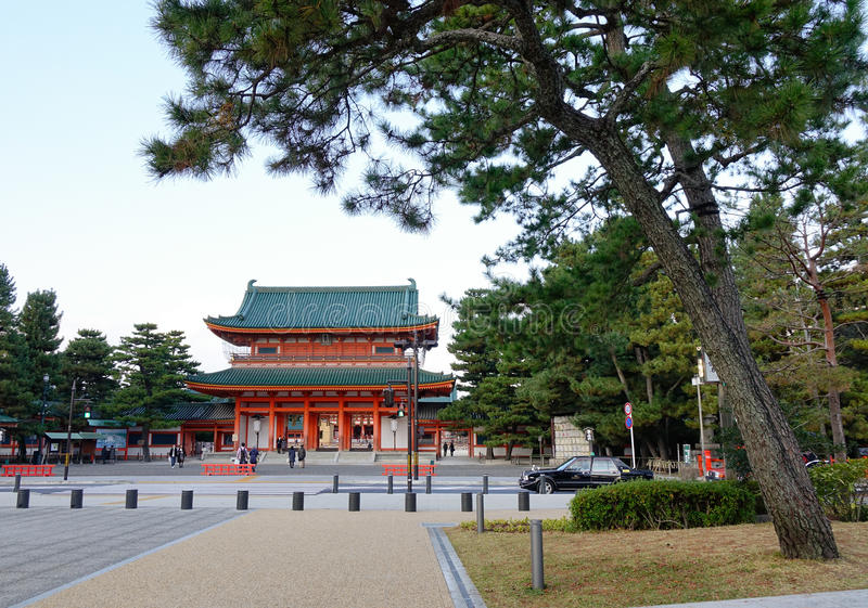 Heian Shrine in Kyoto royalty free stock images