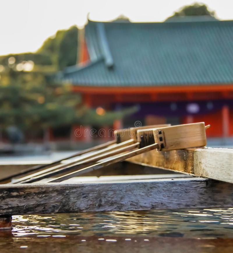 Heian Shrine purification fountain royalty free stock images