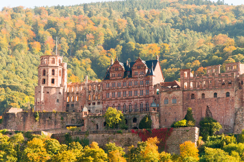 Heidelberg Castle in Germany. Heidelberg Castle, the Gothic-Renaissance castle situated on a mountain slope Königstuhl in Heidelberg, Germany royalty free stock image