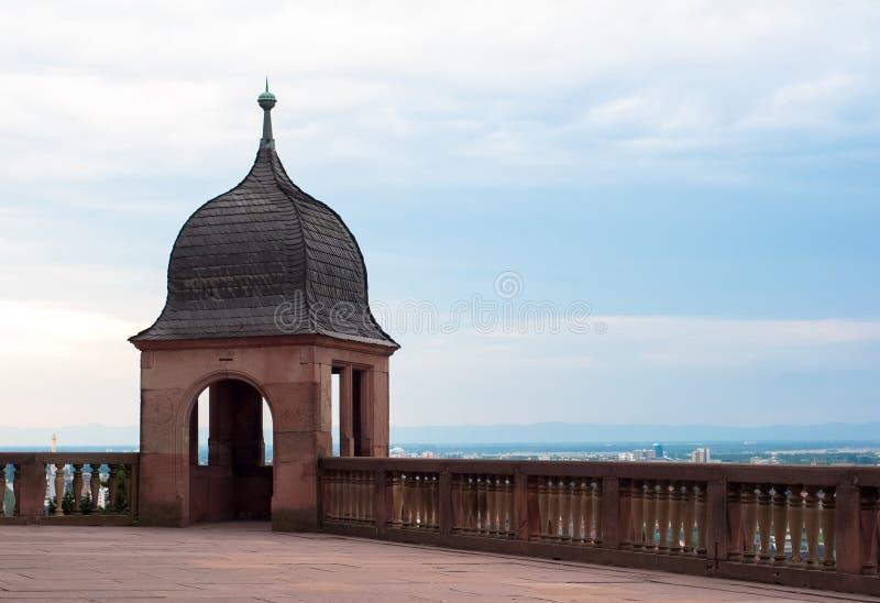 Heidelberg castle observation point royalty free stock photos
