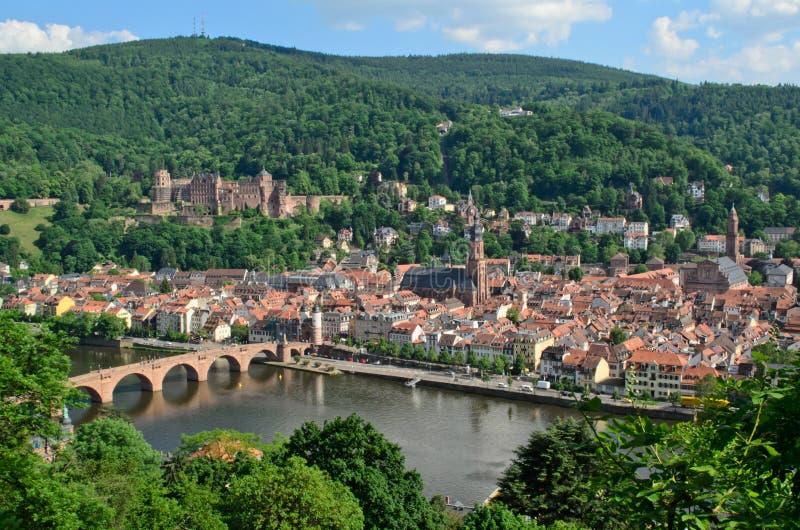 Download Heidelberg Castle, Old Town And Neckar River Stock Image - Image: 25505011
