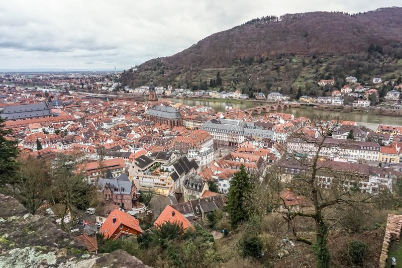 Heidelberg, Duitsland, Europese stad royalty-vrije stock fotografie
