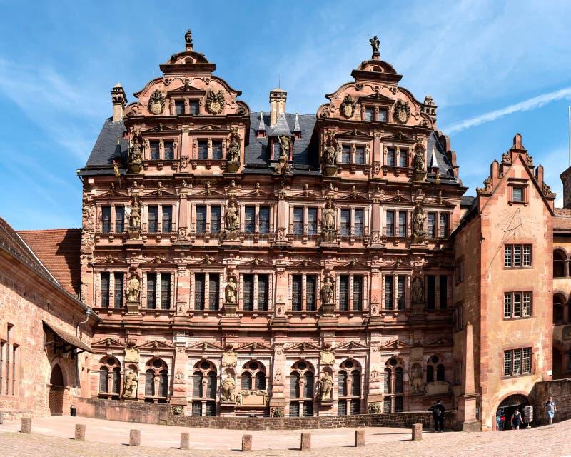 HEIDELBERG, DUITSLAND - JUNI 01, 2019: Het Kasteel van Heidelberg is een ruïne in Duitsland en oriëntatiepunt van Heidelberg royalty-vrije stock afbeeldingen