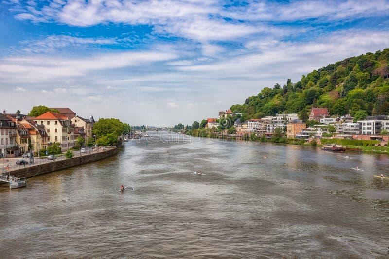 Heidelberg en stad på Neckaren royaltyfri fotografi