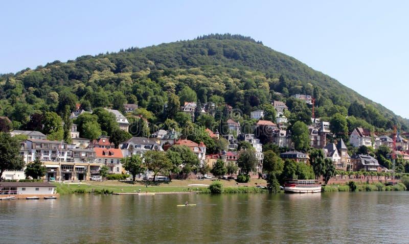 Heidelberg and the Neckar river royalty free stock photo
