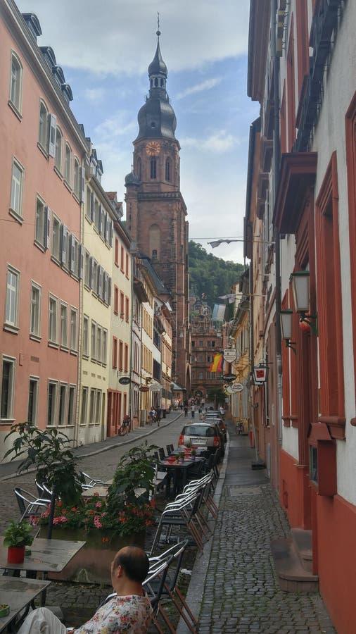 Heidelberg gata royaltyfri bild