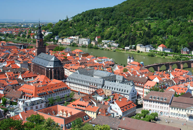 Heidelberg, Germany. The historic town of Heidelberg in Germany royalty free stock image