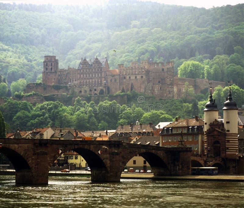 Heidelberg, Germany. River and bridge in Heidelberg, Germany stock image
