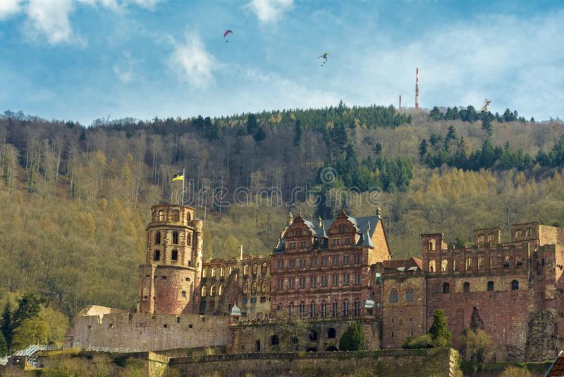 Heidelberg kasztel, Baden-Wuerttemberg, Niemcy zdjęcie stock