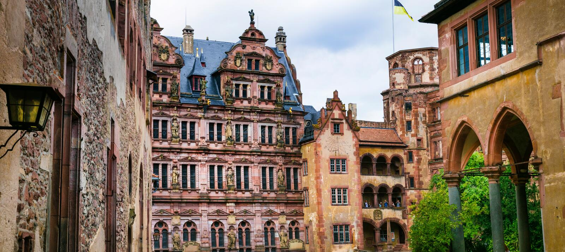 Heidelberg kasztele - Niemcy fotografia royalty free