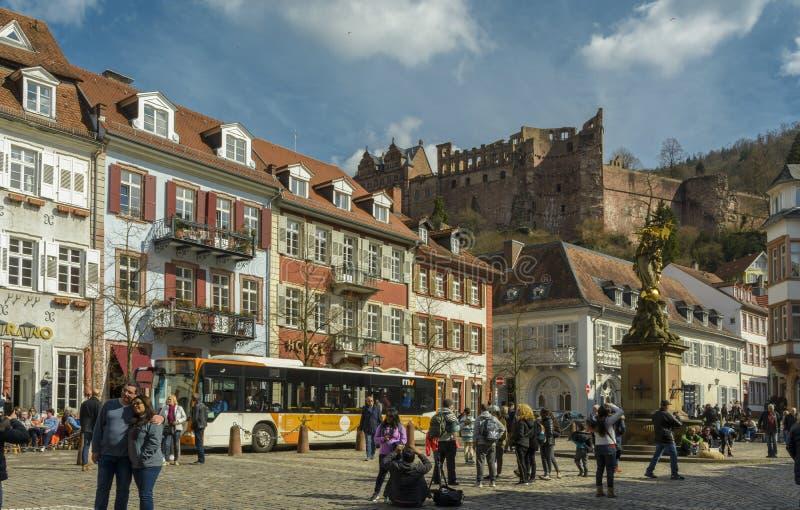 Heidelberg kwadrat, Niemcy zdjęcie stock