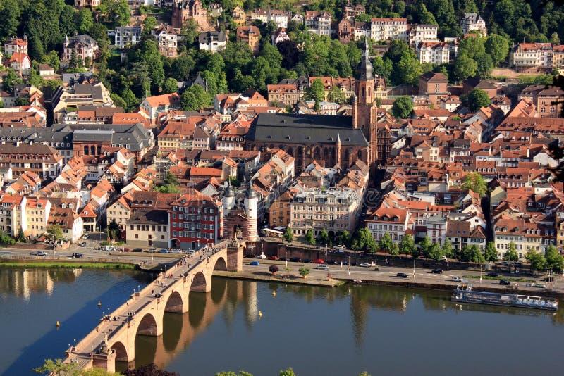 Heidelberg, Niemcy Mały Niemiecki miasteczko fotografia royalty free