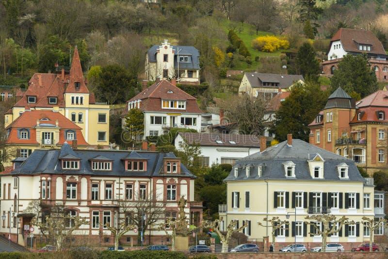 Heidelberg pejzaż miejski, Niemcy zdjęcia stock