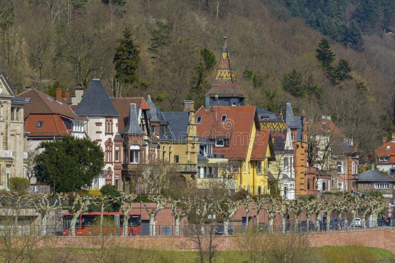 Heidelberg pejzaż miejski, Niemcy obraz royalty free