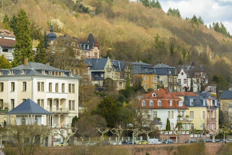 Heidelberg pejzaż miejski, Niemcy zdjęcie stock