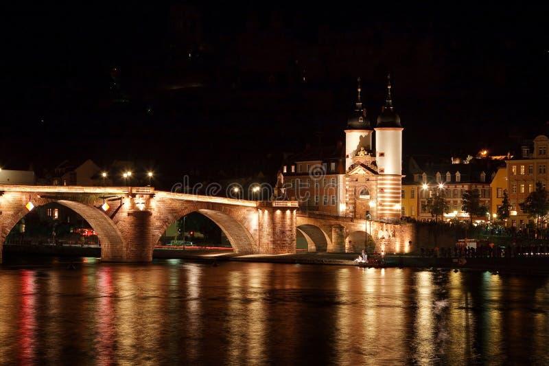 Heidelberg: Puente de Karl Theodor imagen de archivo