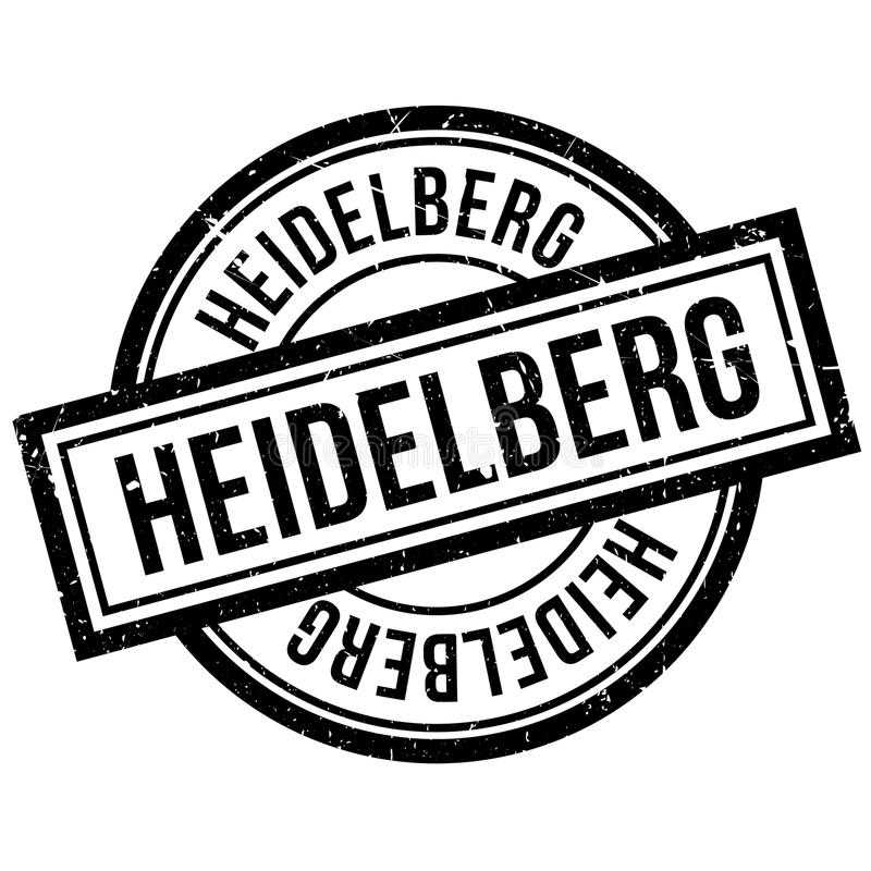 Heidelberg rubber stamp. Grunge design with dust scratches. Effects can be easily removed for a clean, crisp look. Color is easily changed stock illustration