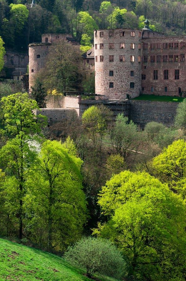 Heidelberg-Schloss in Deutschland lizenzfreie stockfotos