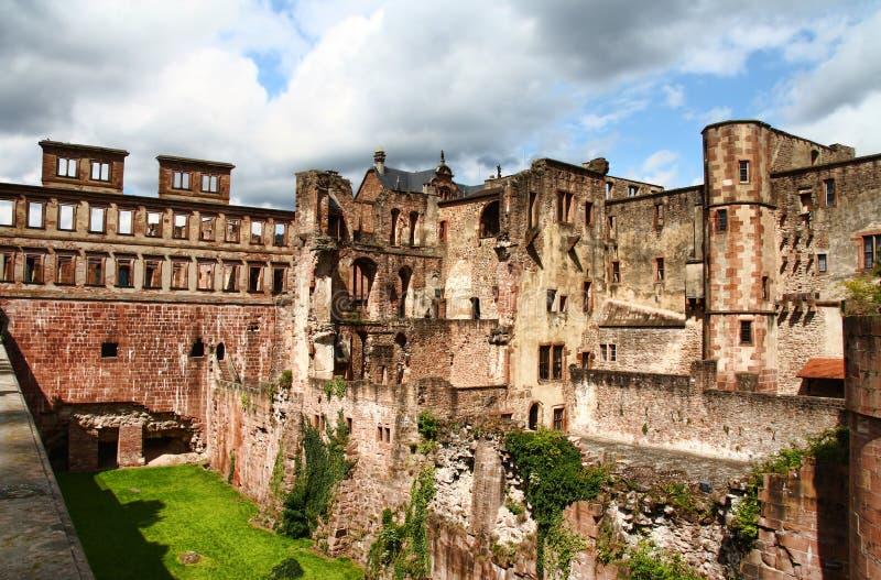 Heidelberg-Schloss, Deutschland in HDR lizenzfreie stockfotos