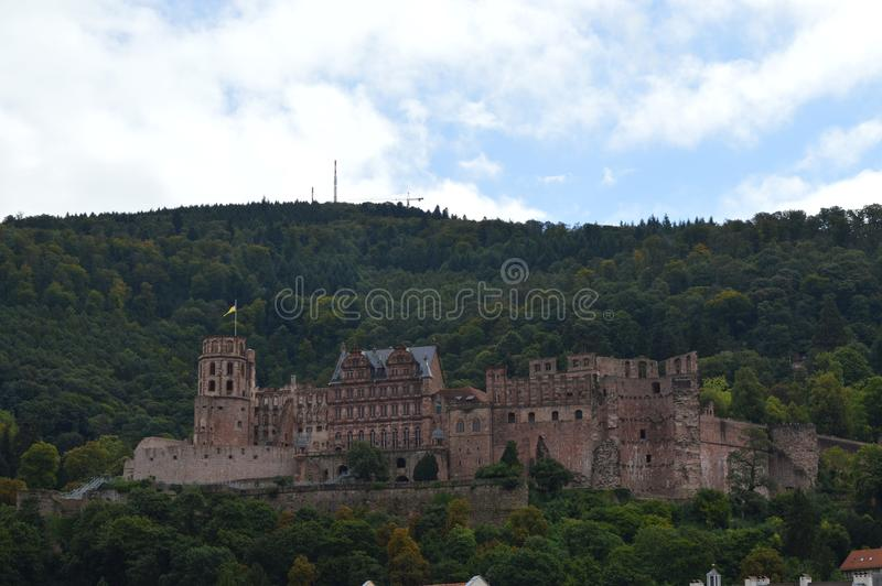 Heidelberg schloss. Heidelberg is the epitome of the romantic Germany, the zigzag and quiet lane communicators, ancient castle and river, full of poetic and stock photos