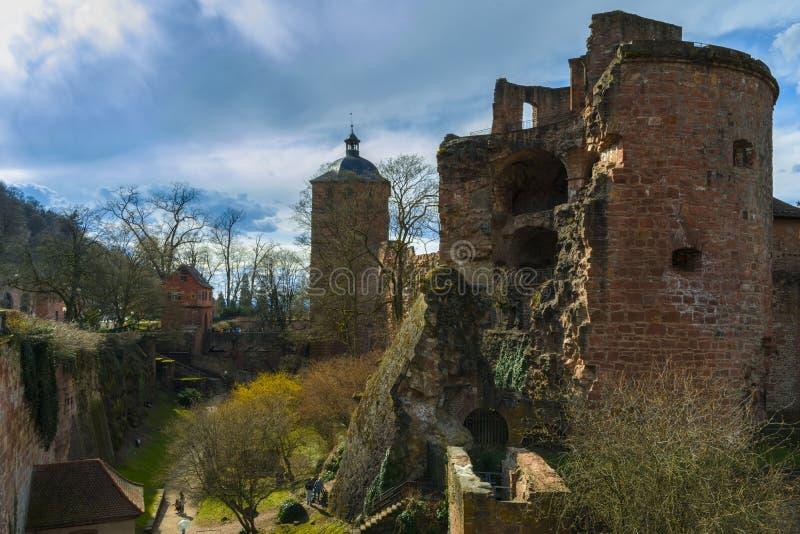 Heidelberg slott, Baden-Wurttemberg, Tyskland royaltyfria foton