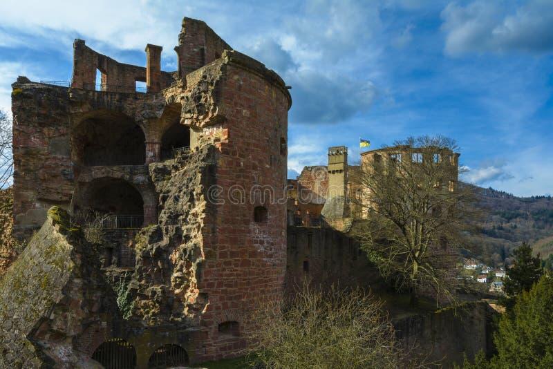 Heidelberg slott, Baden-Wurttemberg, Tyskland fotografering för bildbyråer