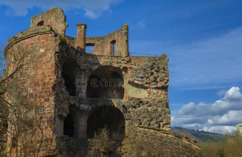Heidelberg slott, Baden-Wurttemberg, Tyskland arkivfoto